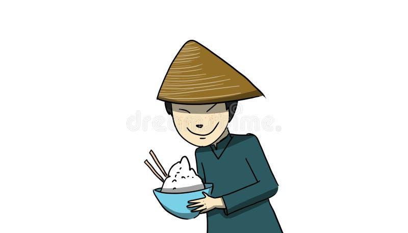 中国人,例证 库存例证