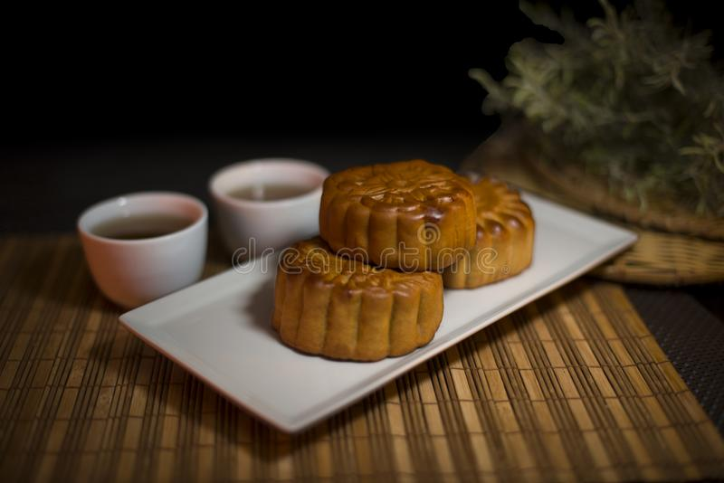 中国传统可口食物月饼 库存图片
