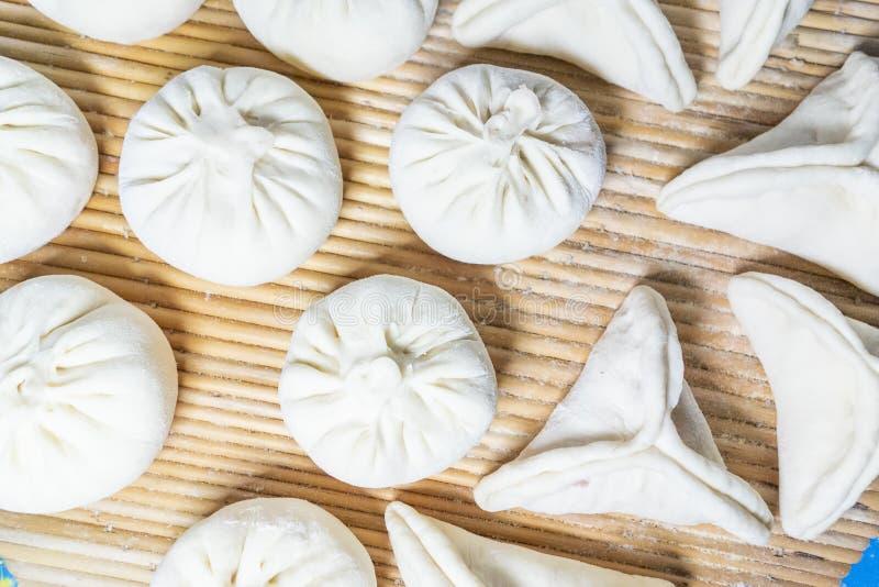 中国传统可口馒头 免版税图库摄影
