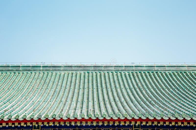 中国传统屋顶背景 免版税库存图片