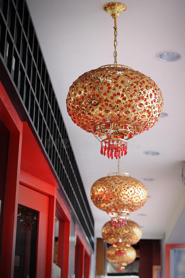 中国传统灯笼 免版税库存照片