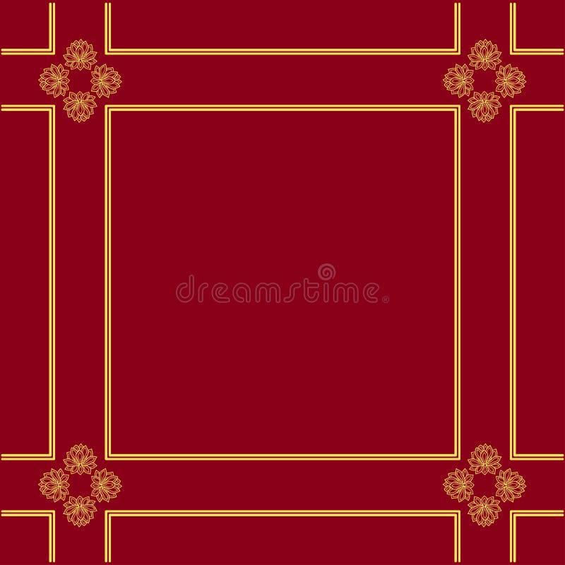 中国传统背景模板,莲花,佛教 库存例证