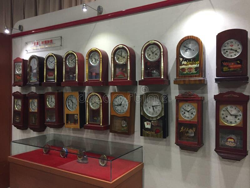 中国传统时钟 免版税图库摄影