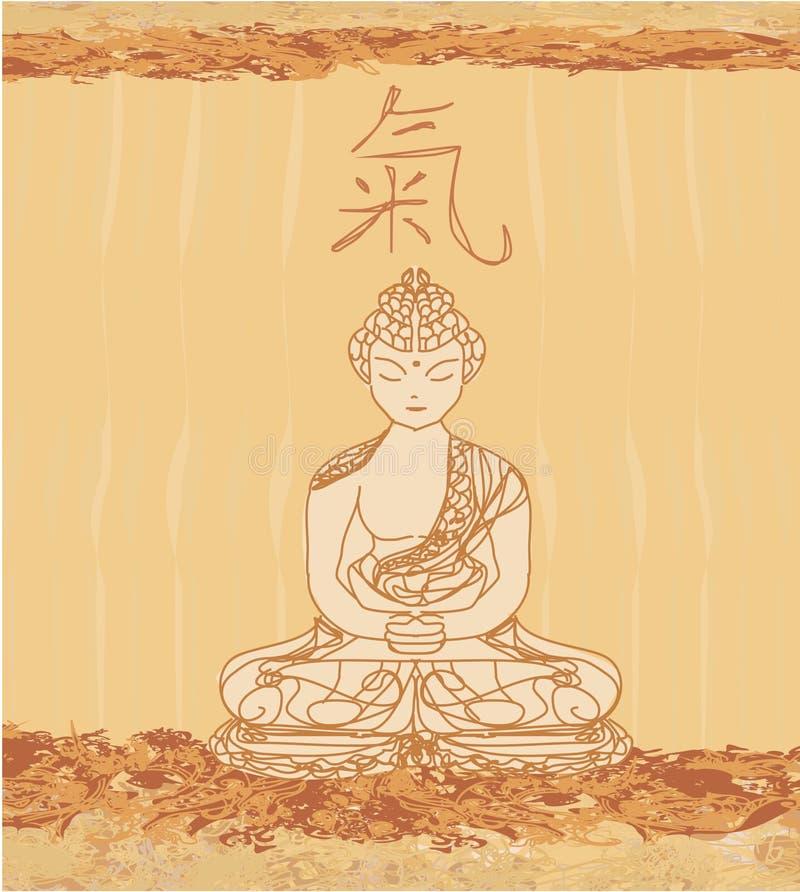 中国传统艺术性的佛教样式 皇族释放例证