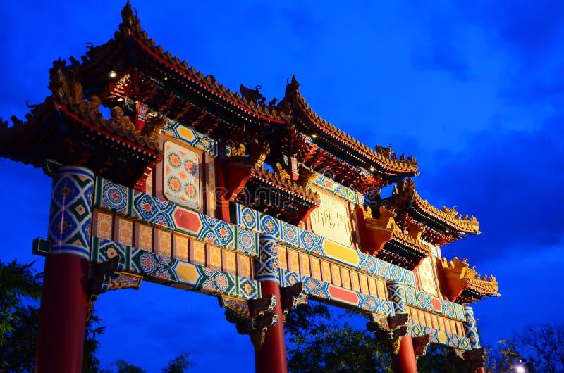 中国传统门 免版税图库摄影