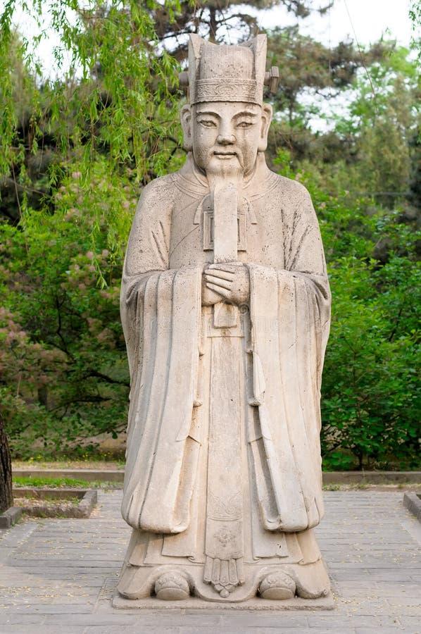 中国传统雕塑 免版税库存图片