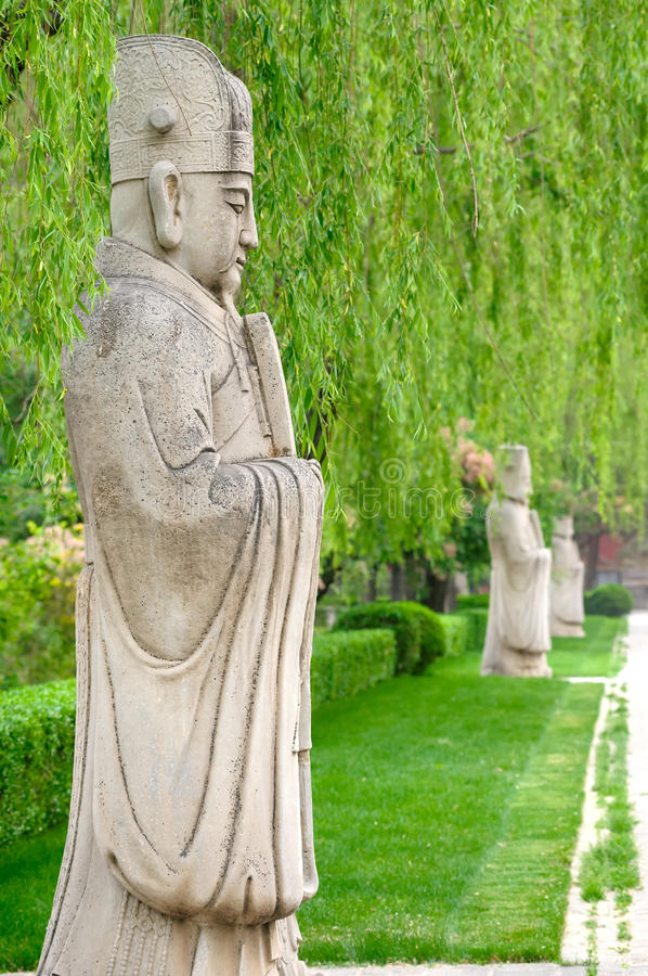 中国传统雕塑 免版税库存照片