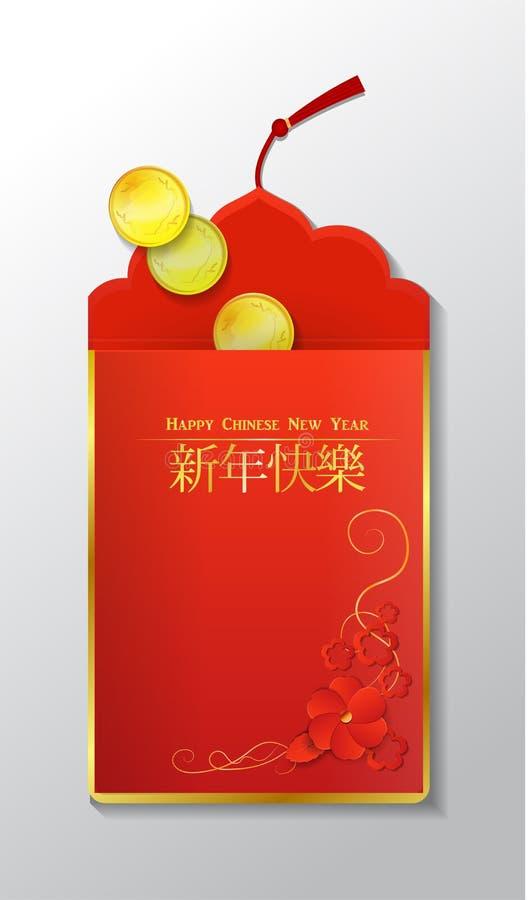 中国信包红色 向量例证