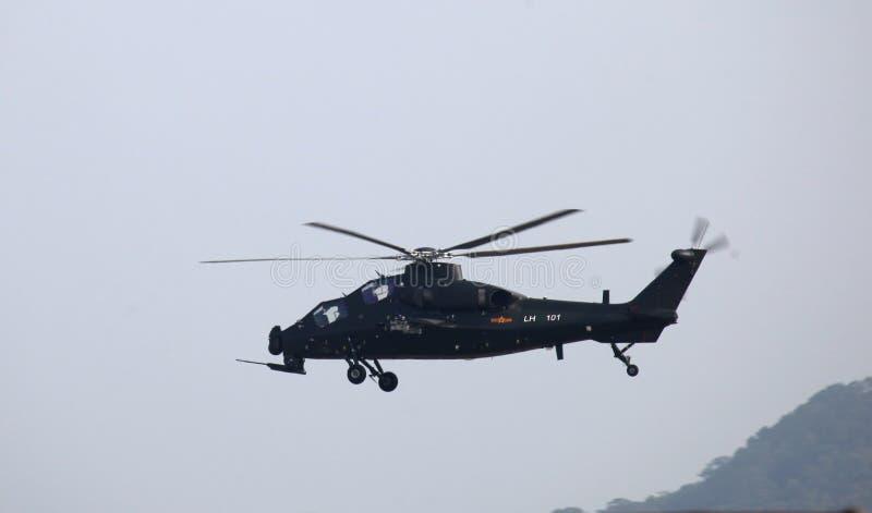 中国军队PLA直升机Z10 LH101 免版税库存图片