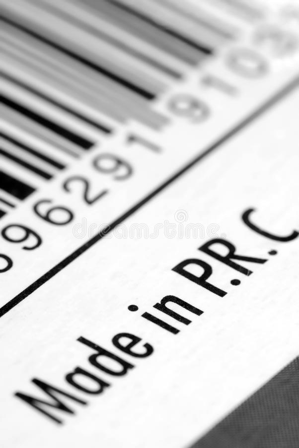中国制造标签 免版税库存图片