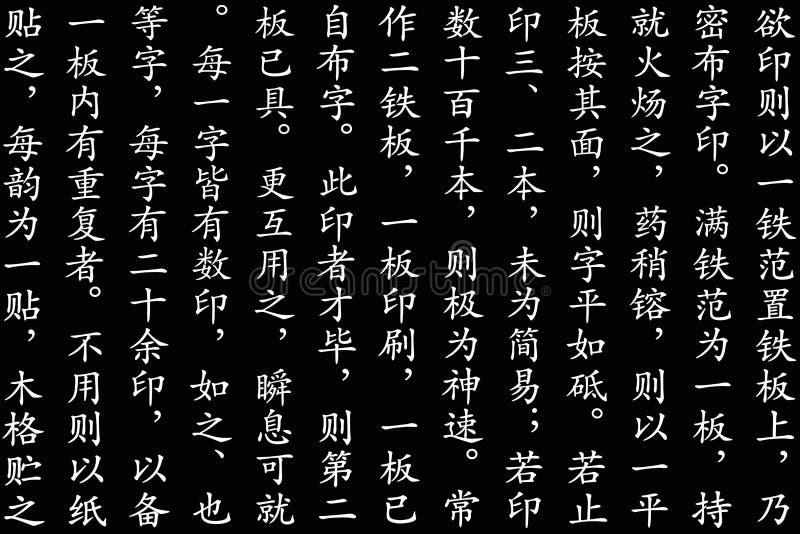 中国剧本样式 免版税库存图片