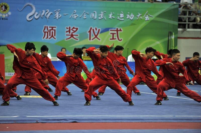 中国功夫,真实的武术 免版税库存图片