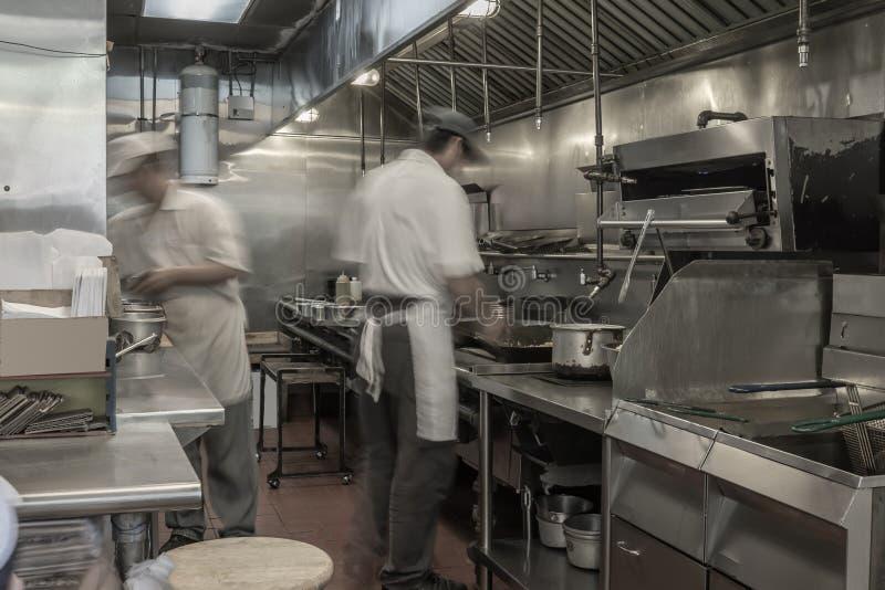 中国厨师烹调 库存图片
