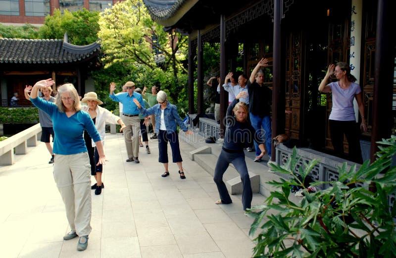 中国古典庭院俄勒冈波特兰 免版税库存照片