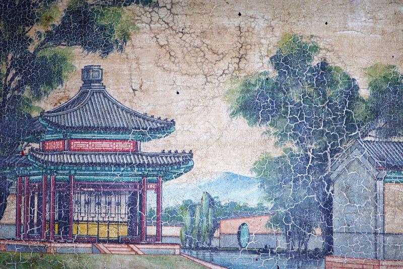中国古典绘画 皇族释放例证
