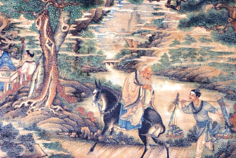 中国古典绘画 向量例证