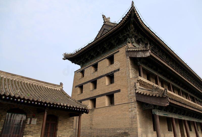 中国古城墙壁和门在羡市 库存图片
