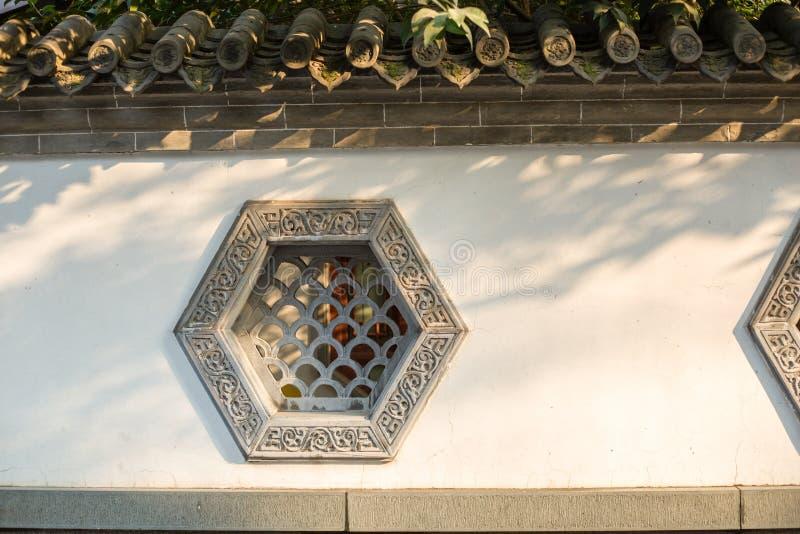 中国古老修造的Windows 免版税图库摄影