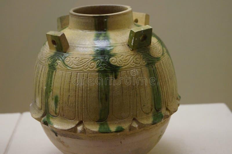中国古老瓦器 图库摄影