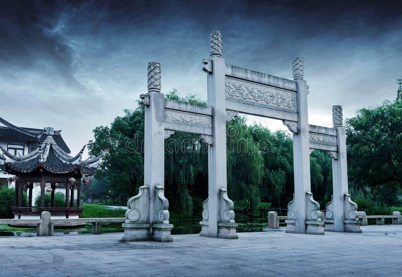 中国古老石曲拱 库存照片