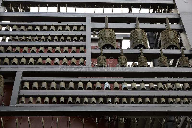 中国古老编钟响铃 库存照片