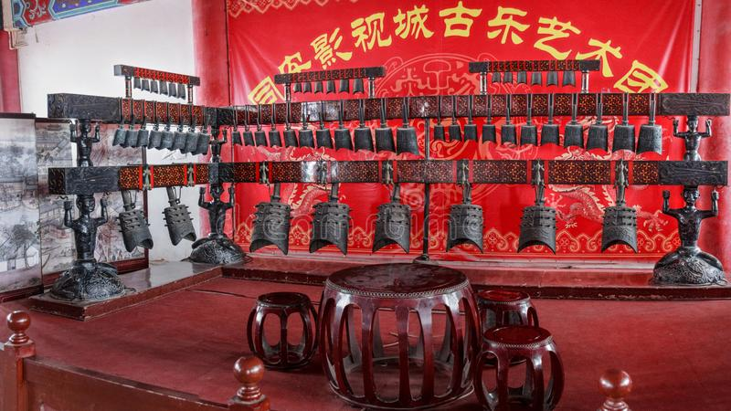 中国古老编钟 图库摄影