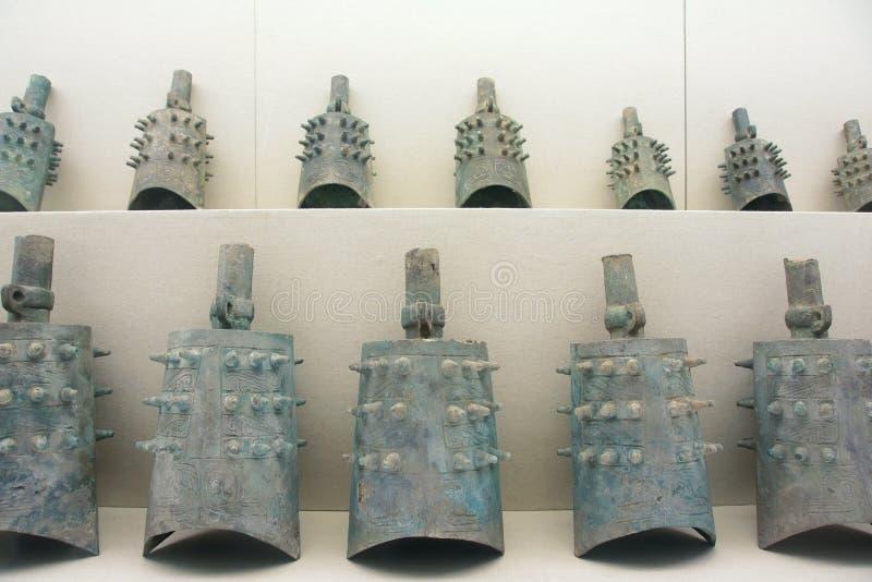中国古老编钟 免版税图库摄影