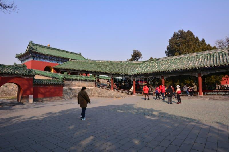 中国古老建筑学-北京天坛 库存图片