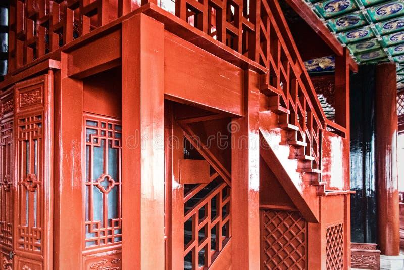 中国四川青城山单老圣洁山道士寺庙 免版税库存照片
