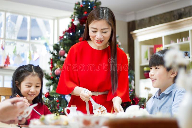 中国圣诞晚餐 免版税库存图片