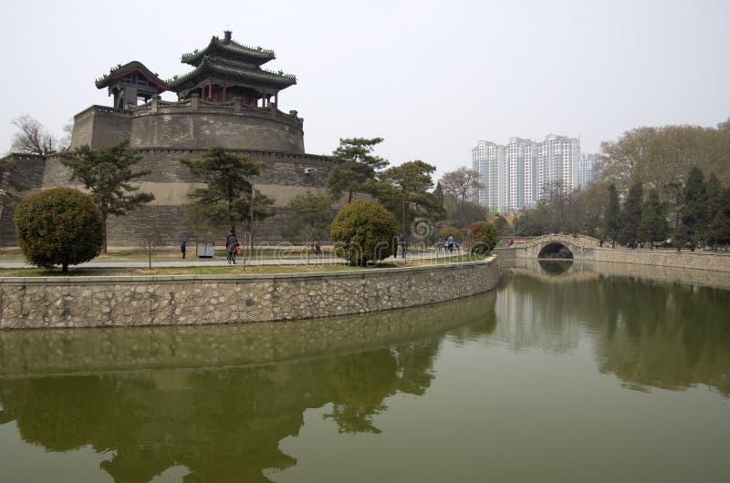 中国城市墙壁邯郸 库存图片