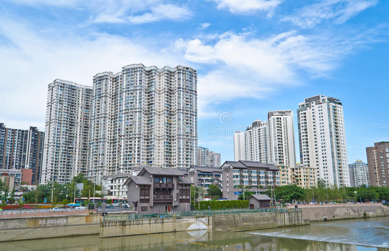 中国城市 免版税库存图片