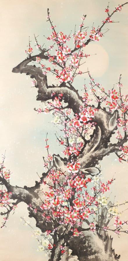 中国墨水绘画 库存图片