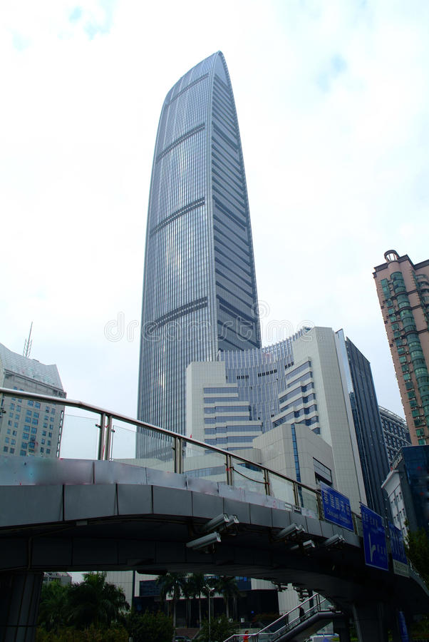 摩天大楼在深圳市 免版税库存照片
