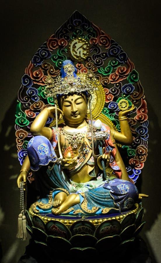 中国天使雕象 库存照片