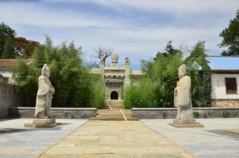 中国太监陵墓 免版税图库摄影