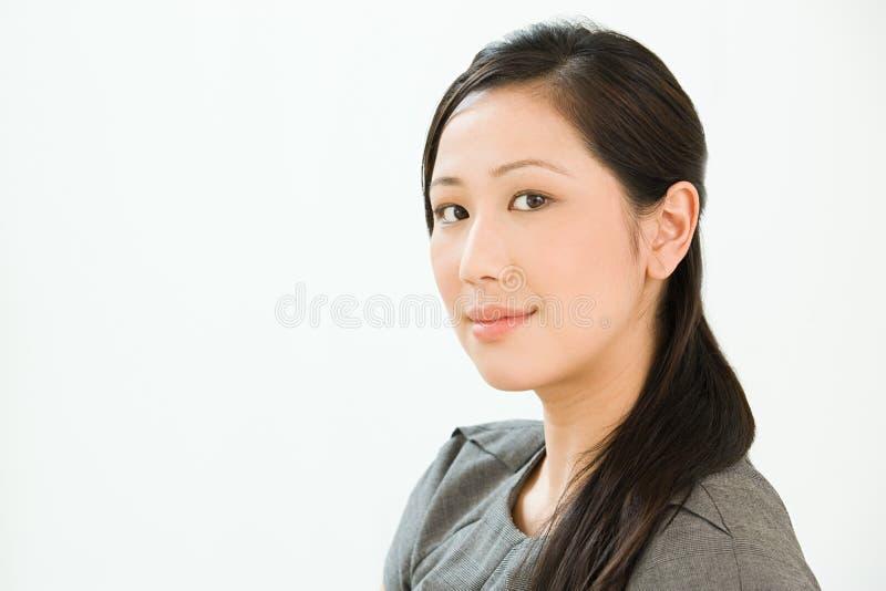 中国女商人的画象 免版税库存照片