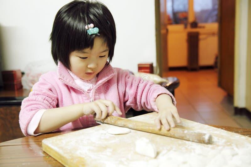 中国女孩一点 库存图片
