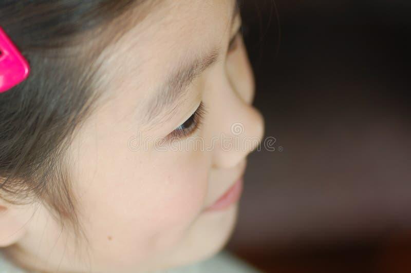 中国女孩一点 库存照片