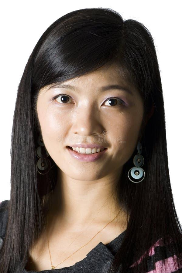 中国女孩种类纵向 免版税图库摄影