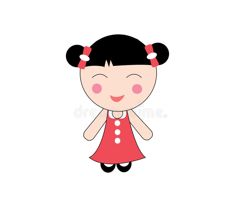 中国女孩 皇族释放例证