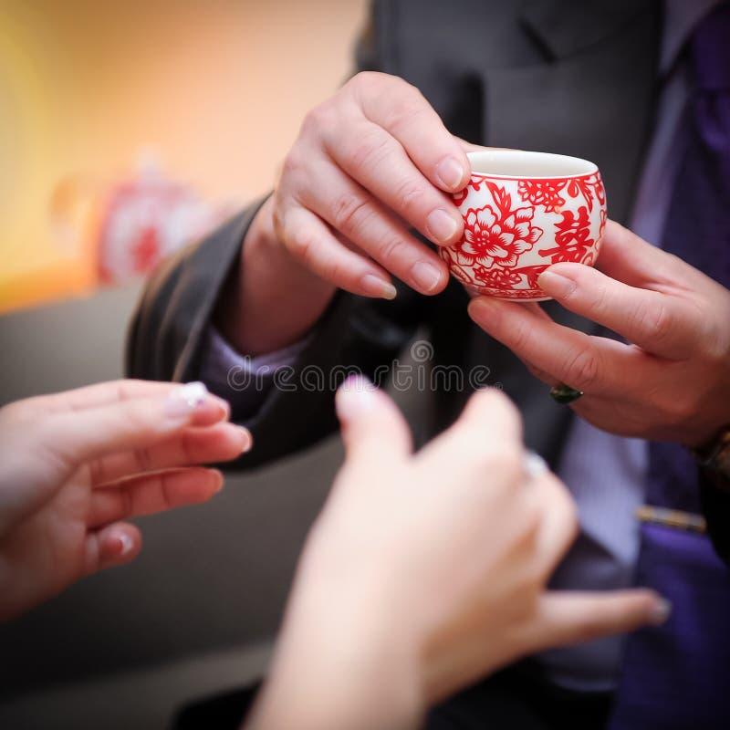 中国婚礼茶道 免版税图库摄影
