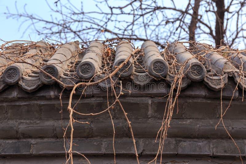 中国宫殿墙壁 图库摄影