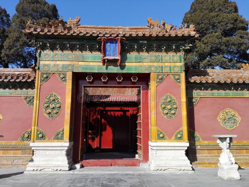 中国宫殿 免版税库存图片