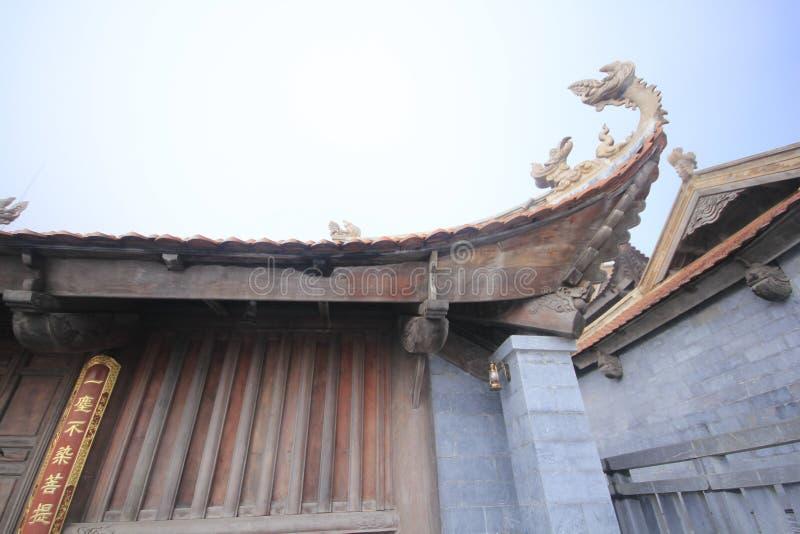 中国屋顶的末端 免版税库存照片