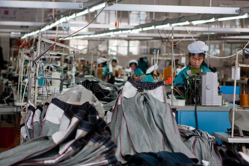 中国工厂汗水 免版税库存照片