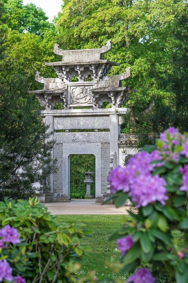 中国庭院在法兰克福 图库摄影