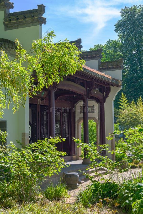 中国庭院在法兰克福 库存图片