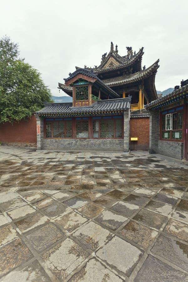 中国庭院寺庙 免版税图库摄影
