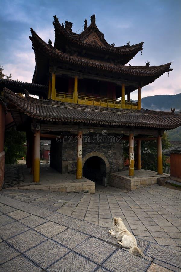 中国庭院寺庙 免版税库存照片